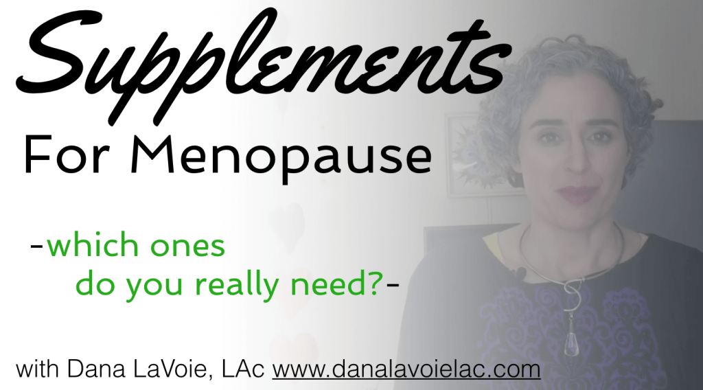 my top 3 supplements for menopause