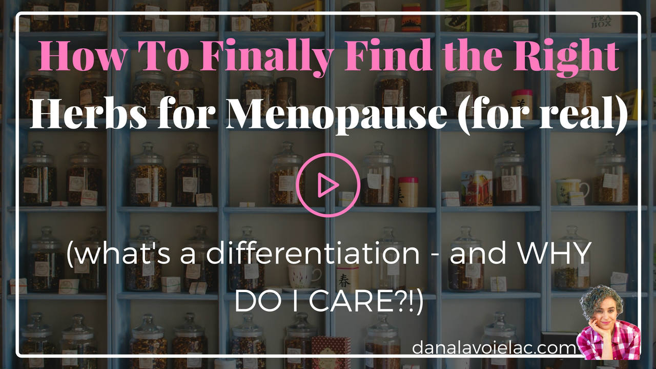 find the right herbs for menopause