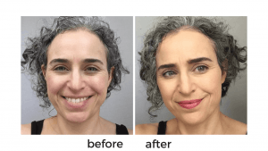 menopause makeup before and after