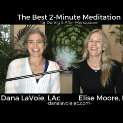 the best 2 minute meditation duraing and after menopause with Elise Moore