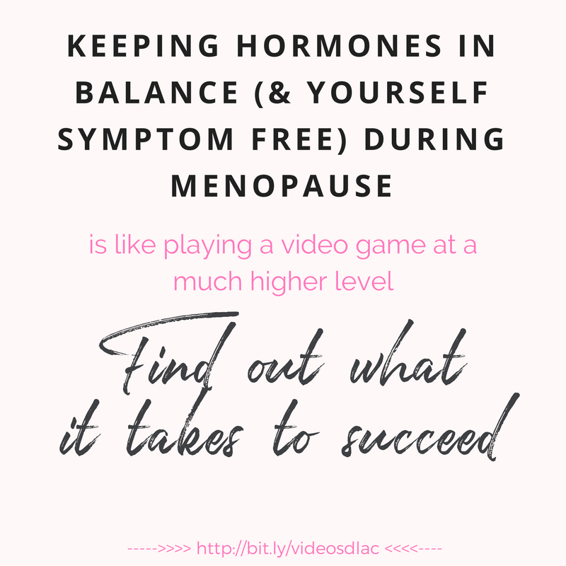 keeping hormones in balance during menopause