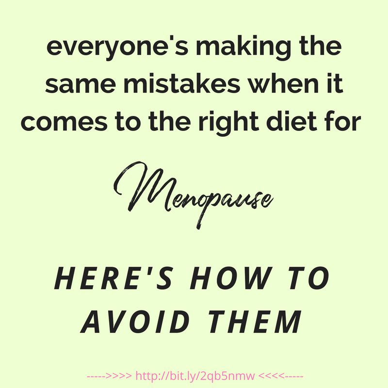 menopause diet mistakes