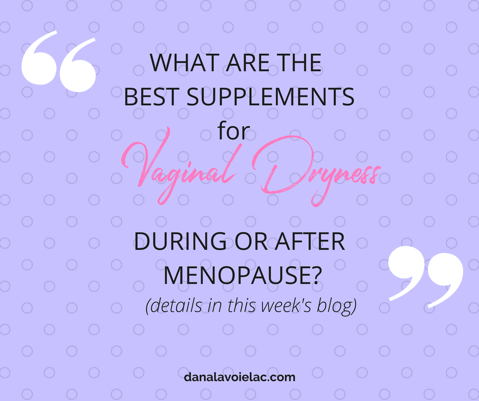 best supplements for vaginal dryness