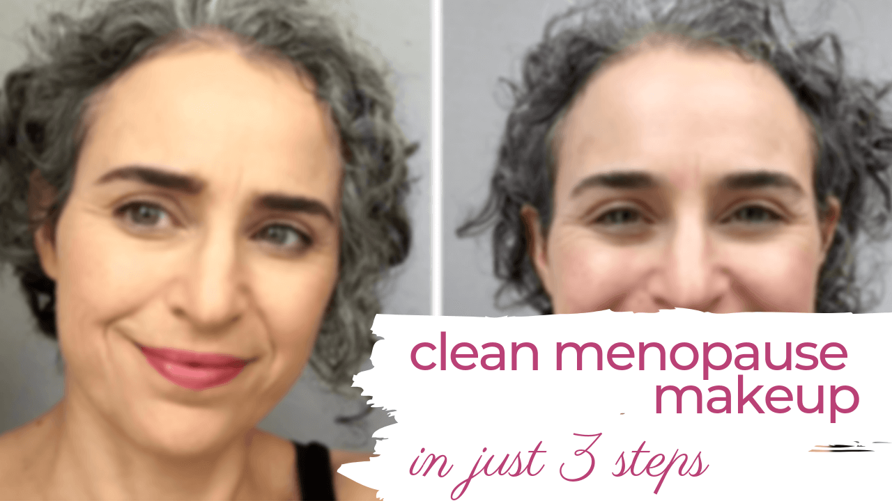 easy organic antiaging makeup for menopause