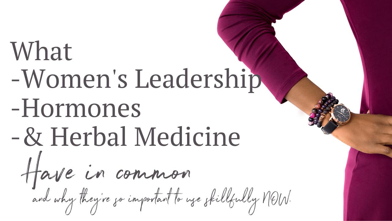 womens leadership menopause and herbal medicine