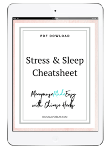 herbal stress and sleep cheatsheet image no br